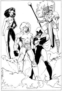 Forte: Cincoflex (Kaye), Dr. Jackal (Mike), Phantasm (Tim), Phantasia (Jeff); art: Washington & Watts